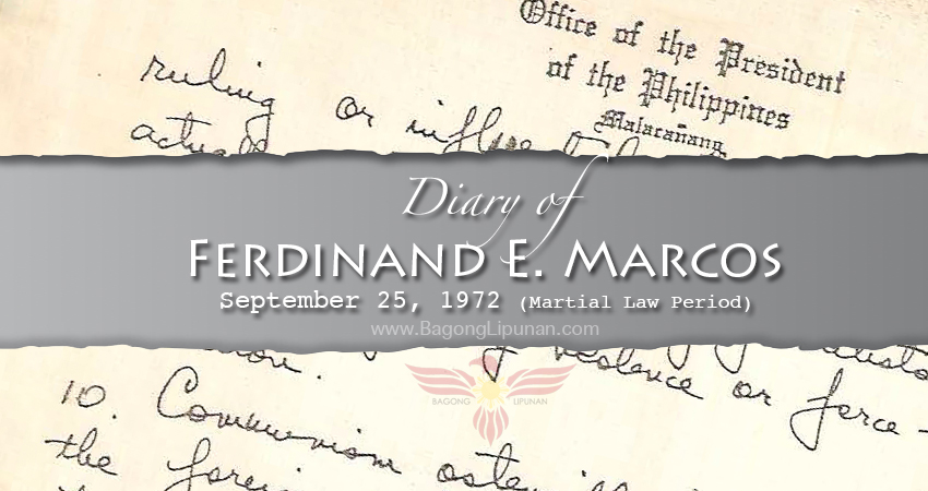 Diary-of-Marcos-September-25-1972