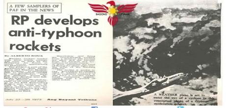 RP develops anti-typhoon rockets