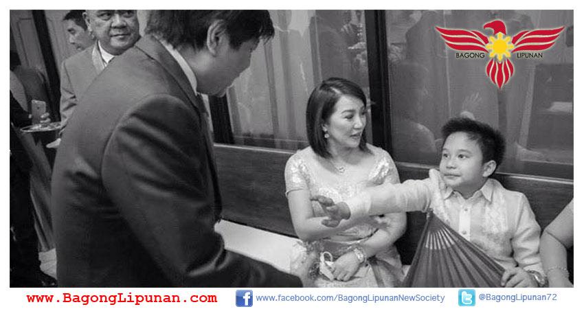 Senator Bongbong Marcos meets Kris Aquino and her son Bimby.