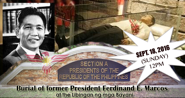 ferdinand e marcos burial at the Why would ferdinand marcos be given a hero's burial update what could have been done to effectively and permanently block ferdinand marcos' burial at libingan ng.