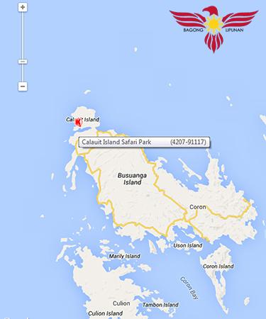 Map of Calauit Island Safari Park