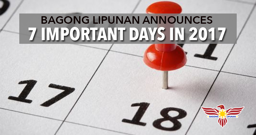 bagong-lipunan-announces-7-important-days-in-2017