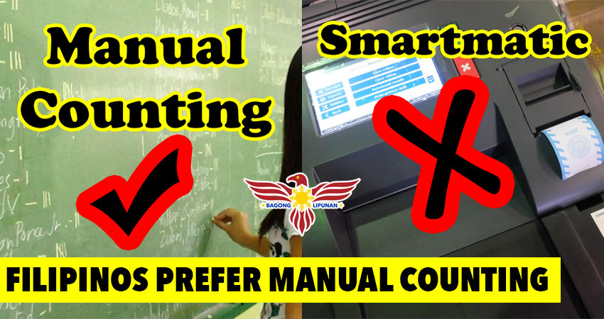 Filipinos prefer Manual Counting over Smartmatic this 2022 election, online survey shows